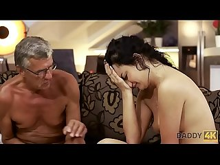 DADDY4K. Raven-haired angel Erica Black gets old and young sexual experience