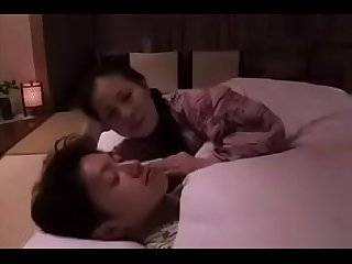 Japanese asian mom foreced her son to fuck her