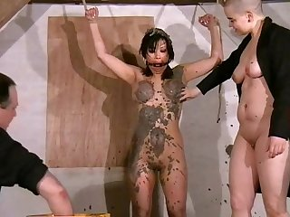 Oriental humiliation and lesbian fetish slavery of busty Tigerr Benson
