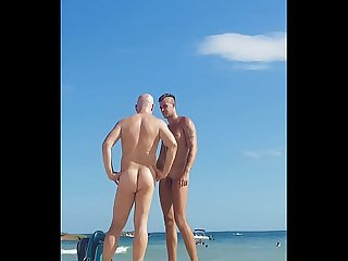 Dancer gay boy at nude beach