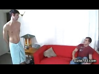 Boyfriend fucks girlfriends gay roommate