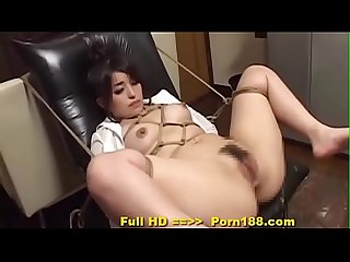 Porn188 com subtitled bizarre japanese bdsm anal play with enema