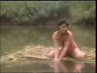 Knockout brunette fucked in a jungle swamp