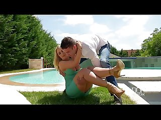 Sunshine Foot Fucking - Hot Busty Babe Receives Cum On Feet