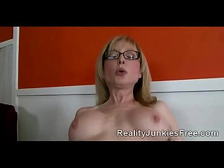 Big boobed milf helps poor son to keep his job by fucking his boss
