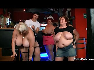 Fat ladies have fun at the party