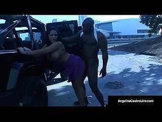 Cuban queen angelina castro fucks big black cock everywhere