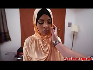 Arab amateur POV pussyfucked wearing hajib