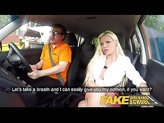 Fake driving school barbie sins sloppy blowjob and hot wild anal ride
