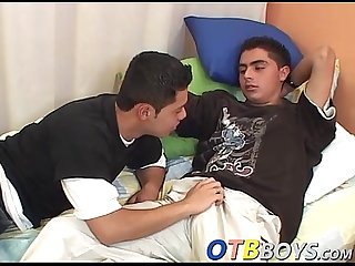 Two gorgeous twinks Antonio and Marcos enjoy in anal sex