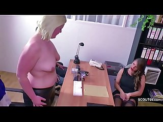 German Big Tit MILF in Female Casting with Young Couple