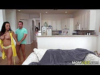 Step son bangs his gf ava taylor and stepmom lisa ann
