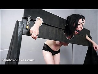 Merciless brazilian bdsm and lesbian whipping of 19yo amateur slave girl demi in