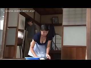 Horny Japanese wife alone with a young man