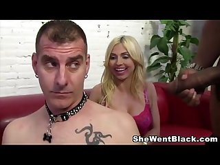 Big Tit Christie Stevens makes her Cuckold Husband watch her Fuck a Black Cock