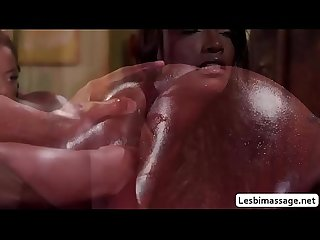 Two hot ebony babes intense scissor sex