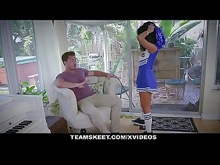 Exxxtrasmall sexy cheerleader teen fucks huge cock
