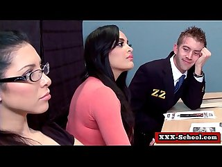 Sexy busty schoolgirl and teacher fucked at school 25