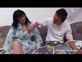 Busty mother fucking son s cock