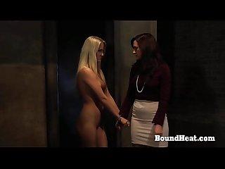 Amazing Busty Lesbian Slaves Servicing Mistress