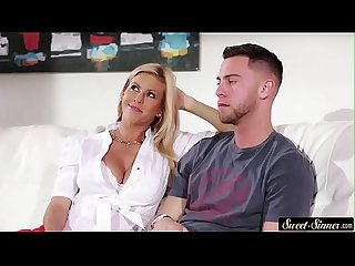 Classy stepmom banged and cum squirted