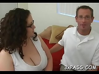 Chap and fattie are having wonderful oral fun before camera