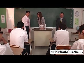 Hot Japanese teacher is punished in front of her students