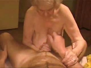 Facial on a very old granny period amateur older
