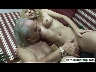 Old Guy Gets A Chance To Fuck An Amazing Young Beauty