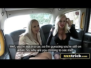 Busty blonde bimbos in filthy taxi 3some Michelle thorne sophie anderson