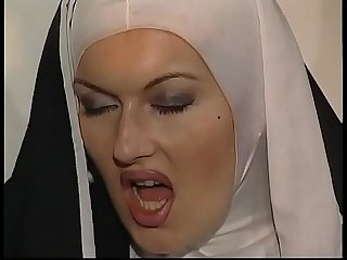 Shameful nuns get fucked in a threesome