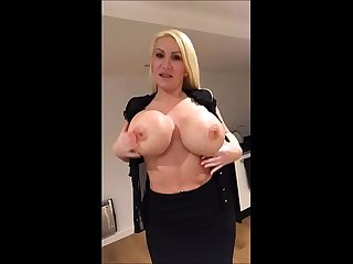 Milf strips and plays home alone - TheXXXCam.com