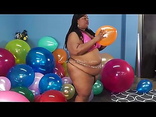 Aminah Gorges On Whip Cream-Fingernail Pops Balloons