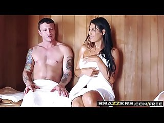 Brazzers - Mommy Got Boobs - ( Makayla Cox, Mr. Pete) - Sneaky Sauna Mama