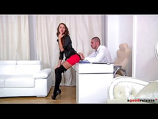 Sexy russian secretary helena fox relieves her boss stress with deepthroat
