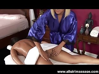 Briana blair lesbian massage and dildo fuck