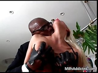 Big black monster of cock in going deep
