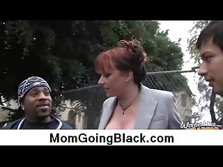 Big black cock on busty mom