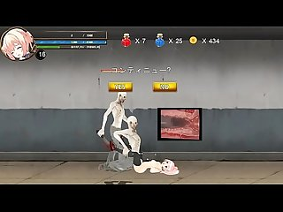 Teen girl hentai in hard sex with men 1st boss in fighting girl mei game ryona