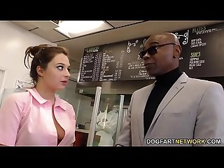Waitress elektra rose gangbanged by black customers