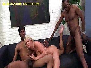 Black in both ends of blonde