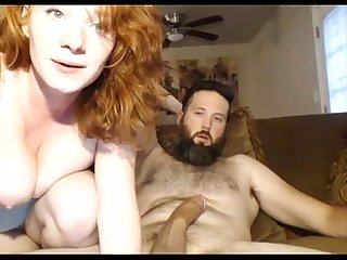 Anal sex with a big tits redhead Dp on sexowebcam online