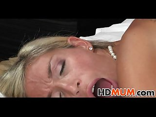Stunning blonde mum sex