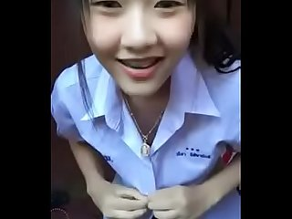 Sexy girl student uniform thailand