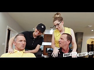 Teen daughter swap sugar daddies