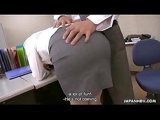 Japanese office lady, Noeru Mitsushima got fucked and creampied, uncensored