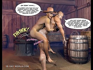 How the west was hung 3d gay cartoon anime comics or gay hentai toon animation