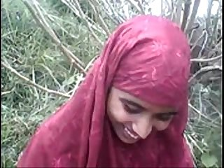 Desi bangla Muslim hijab beauty in Forest