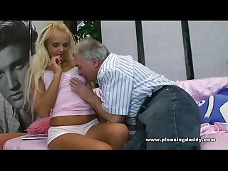 Young slut pleases her sugardaddy with her wet tight cunt