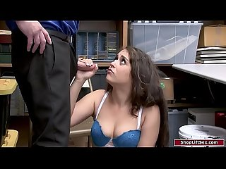 Small tits babe fucked by two officers